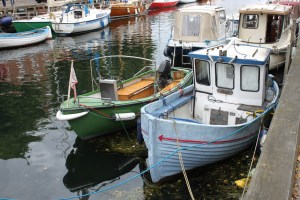 Small boats pepper Copenhagen's canals.