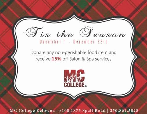 Tis the season donation kelowna