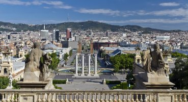 panorama of the city of Barcelona Spain