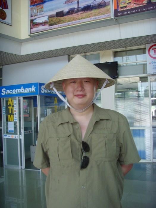 在富国岛机场等待芒果湾来接