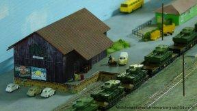 komplett neu gebauter Güterschuppen
