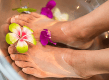 Soaking feet to ease Menopause symptoms