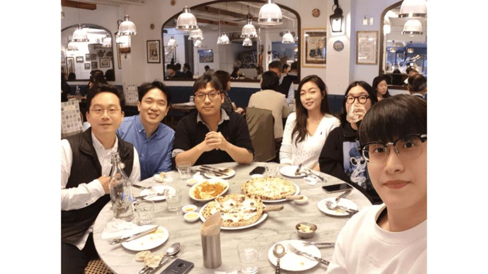 메디블록 랜덤 점심 식사 문화 피자