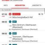 Der Streckenagent gibt Infos über die aktuellen An- und Abfahrten an einem Bahnhof.