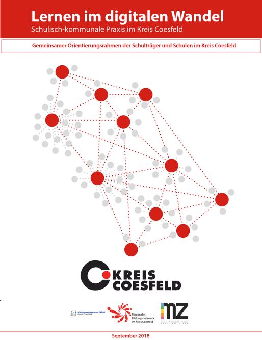 Bild und Link: Lernen im digitalen Wandel - Schulisch kommunale Praxis im Kreis Coesfeld: Gemeinsamer Orientierungsrahmen der Schulträger und Schulen im Kreis Coesfeld