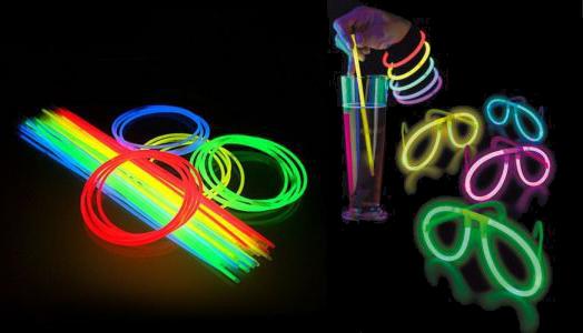 Accessoires fluo pour nuits colorées
