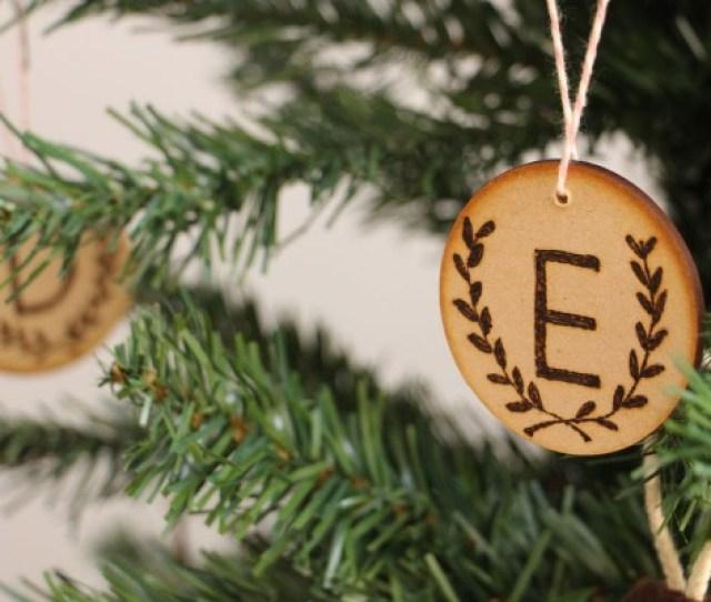 Diy Wood Burned Christmas Tree Ornaments By Megan Nielsen Handmade Christmas