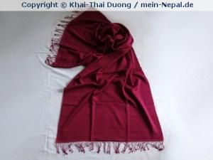Pashmina sind Tücher in verschiedenen Größen aus einem Kaschmir-Seide Gemisch - idealerweise 70/30.