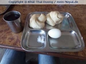 Besonderes tibetisches Frühstück in Snowland.