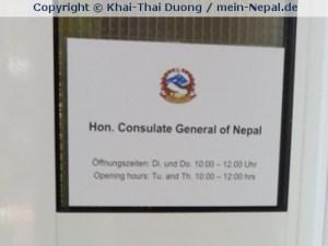 Im nepalesischen Konsulat in Frankfurt kann man sein Visum im Vorfeld ausstellen lassen.