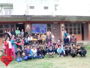 hamromaya Nepal e.V. veranstaltete ein medizinisches Camp an einer Behindertenschule in Kathmandu, Nepal.