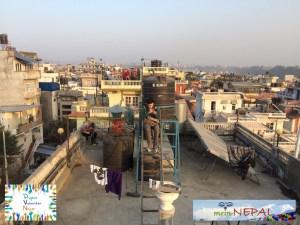 Genießt den Ausblick über den Dächern Kathmandus.