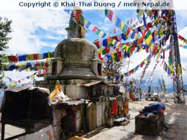 Gebetsfahnen in Nepal