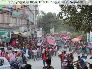Weihnachtsshopping während Dashain