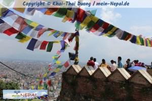 Die beliebte Aussichtsplattform auf Swayambhu.