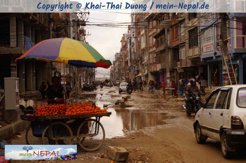 Monsun in Kathmandu - Schlamm
