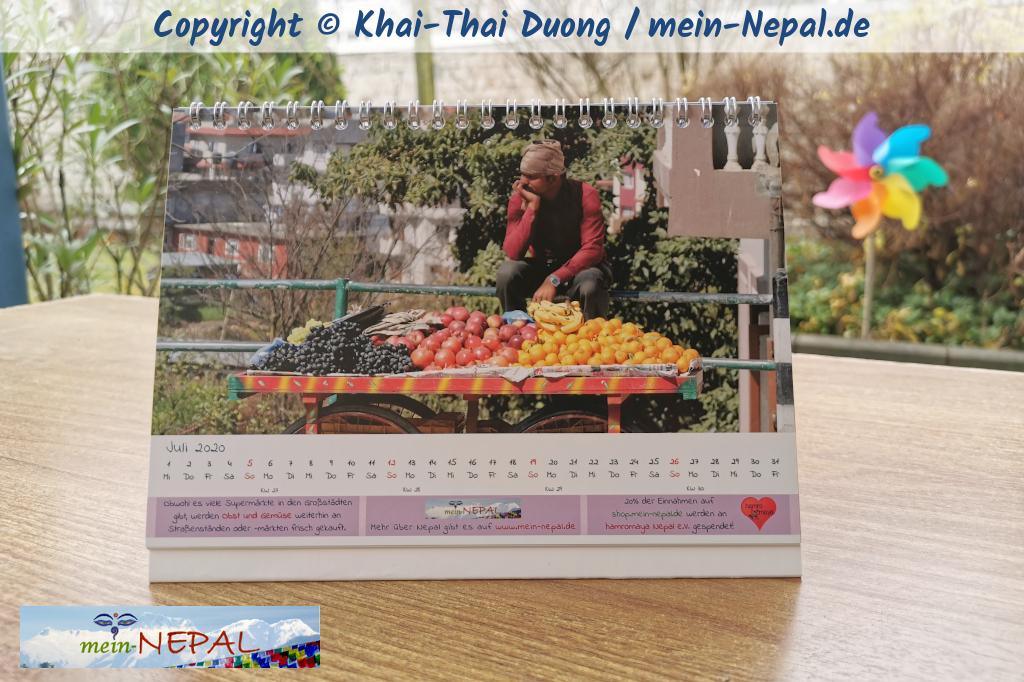 Toller Tischkalender mit Nepal Motiven