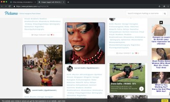 Photos initially posted on Instagram are found on Pictame, surrounded by advertising…