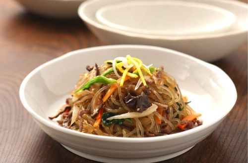 korean japchae noodles