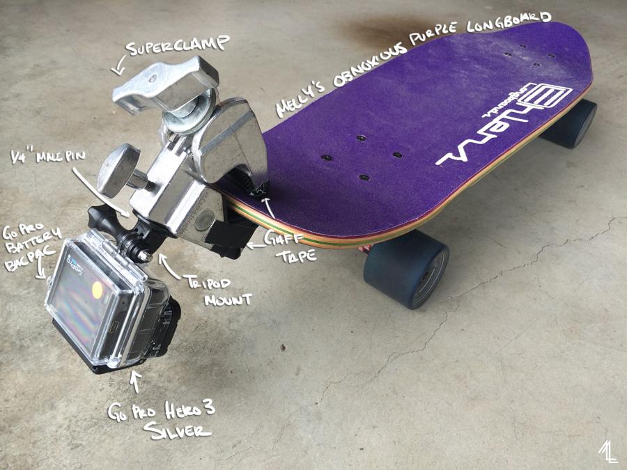 MellyLee-GoPro-Longboard1
