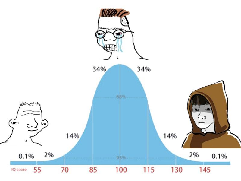 bell curve wojak