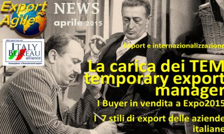 Gli stili di export delle piccole aziende italiane