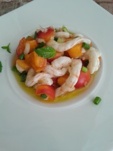 Shrimp carpacio
