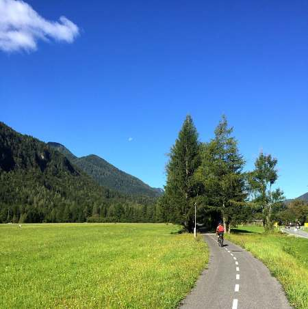 Cycling to Kranjska Gora