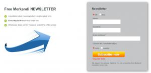 subscribing to Merkandi newsletter