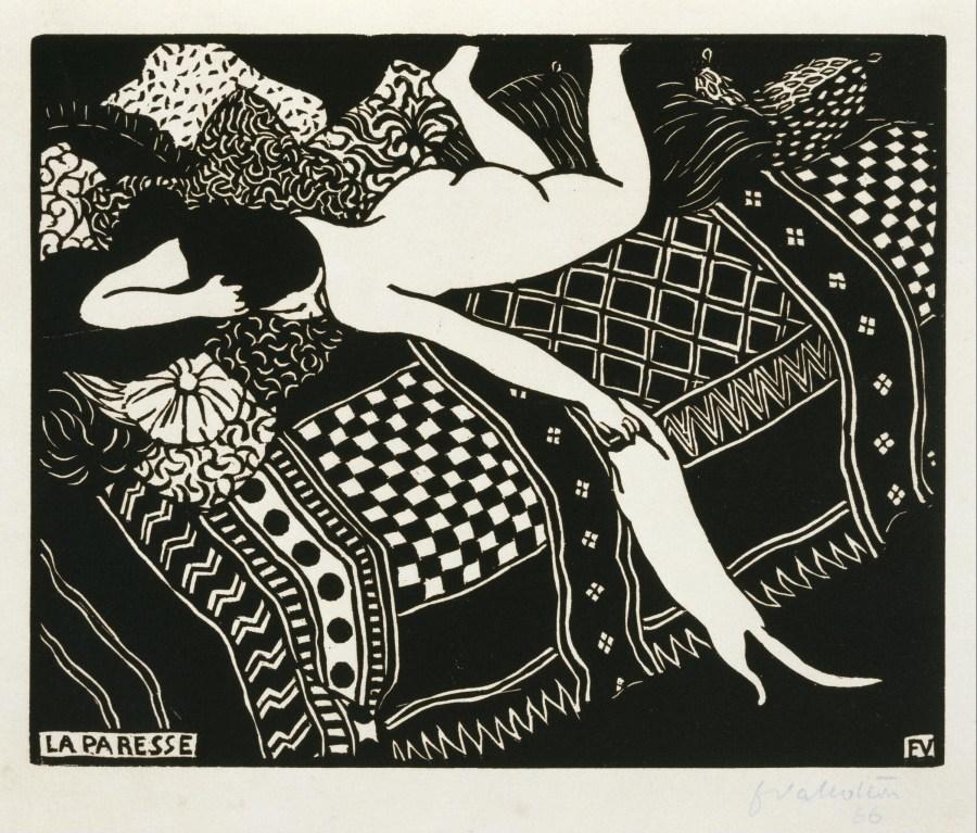 la paresse - Félix Emile-Jean Vallotton (1865/1925)
