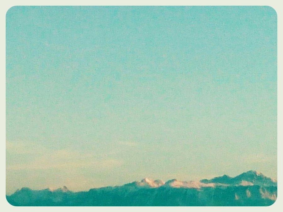 Alpes depuis Lausanne