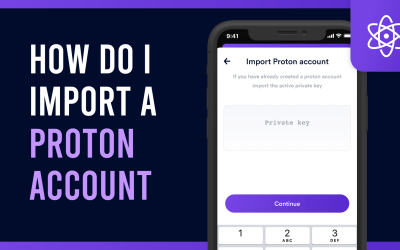 How do I import a Proton account on the Proton Wallet?