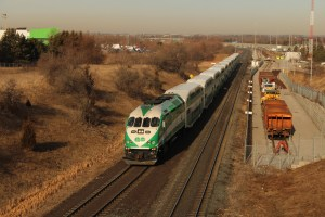 GO Train travels along the Lakeshore East line in this undated photo