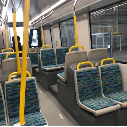 Image shows empty seats.