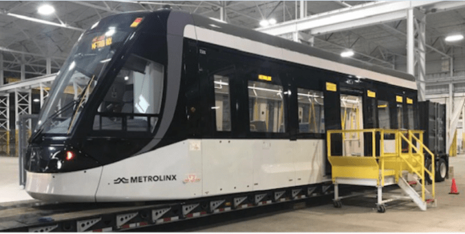 The LRV mock-up is shown inside a warehouse.