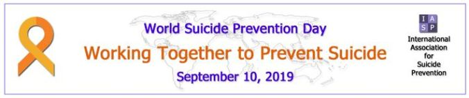 A banner for World Suicide Prevention Day