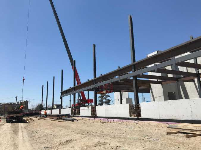 Photo of the Finch West LRT Maintenance and Storage Facility under construction
