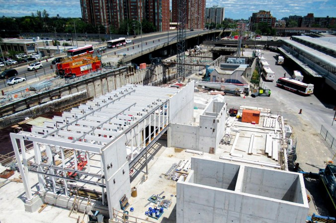 Image shows construction at the station.