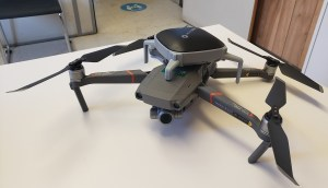 Image shows the drone on a desk.