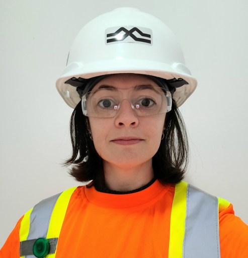 Metrolinx project coordinator Raquel Mendes Moreira pictured in full personal protective equipment.