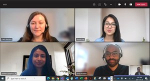 Image shows an online meeting taking place.