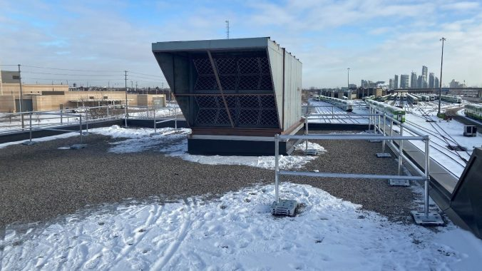 photo of the HVAC unit on the roof
