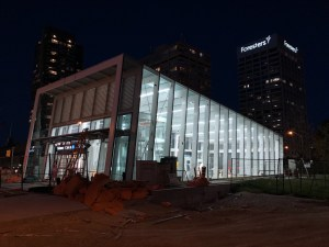 A look at Science Centre Station at night.