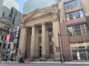 Photo of Canadian Bank of Commerce facade on Yonge Street
