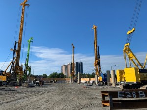 Image shows a number of large drills.