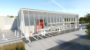 Image shows rendering of Kennedy Station.