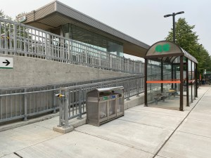 Image shows a new ramp leading to the platform.