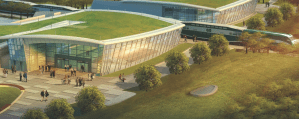 Image shows a rendering of the station.