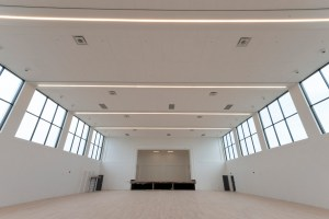 Image shows a large empty room.