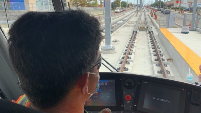 A look from the operator's perspective as the Crosstown vehicle tests get underway